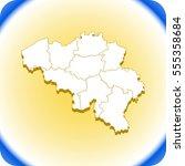 map of belgium | Shutterstock .eps vector #555358684