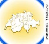 map of switzerland | Shutterstock .eps vector #555363640