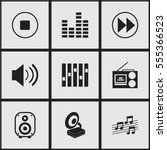 set of 9 editable song icons....