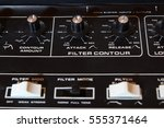 vintage analogue music... | Shutterstock . vector #555371464