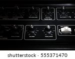 vintage analogue synth control... | Shutterstock . vector #555371470