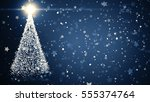 merry christmas greeting card ... | Shutterstock . vector #555374764