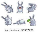 rabbits isolation   Shutterstock .eps vector #55537498