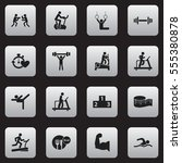 set of 16 editable fitness...