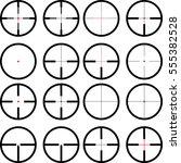 reticule  viewfinder  target... | Shutterstock .eps vector #555382528