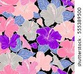 aloha hawaiian shirt seamless... | Shutterstock . vector #555389500