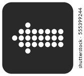 dotted arrow left vector icon.... | Shutterstock .eps vector #555399244