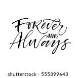 forever and always postcard.... | Shutterstock .eps vector #555399643