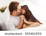 picture of happy couple in... | Shutterstock . vector #555401953