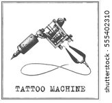 tattoo machine | Shutterstock .eps vector #555402310