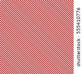 Diagonal Red Stripes On White...