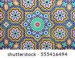 islamic pattern of a mosaic in... | Shutterstock . vector #555416494