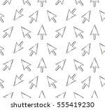 cursor. colored flat line...   Shutterstock .eps vector #555419230