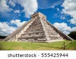 pyramid at chichen itza  mexico | Shutterstock . vector #555425944