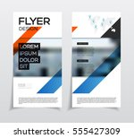 business flyers with photo and... | Shutterstock .eps vector #555427309