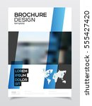business brochure design.... | Shutterstock .eps vector #555427420