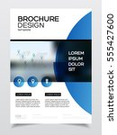 business brochure design.... | Shutterstock .eps vector #555427600