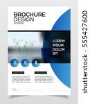 business brochure design.... | Shutterstock .eps vector #555427600