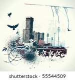 vector illustration of urban... | Shutterstock .eps vector #55544509