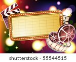 vector illustration of  retro... | Shutterstock .eps vector #55544515