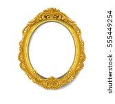 oval baroque gold picture frame | Shutterstock .eps vector #555449254