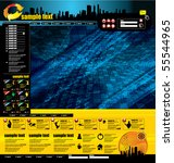 technology web page layout... | Shutterstock .eps vector #55544965