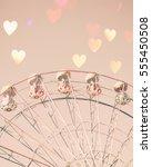 vintage ferris wheel with bokeh ...   Shutterstock . vector #555450508