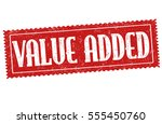 value added grunge rubber stamp ... | Shutterstock .eps vector #555450760