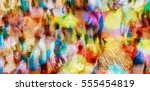 carnival parade at the famous... | Shutterstock . vector #555454819