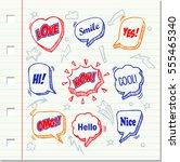 hand drawn of speech comic... | Shutterstock .eps vector #555465340