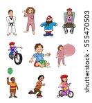 cartoon vector illustration of... | Shutterstock .eps vector #555470503
