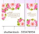 vintage delicate invitation... | Shutterstock .eps vector #555478954