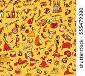 spain  seamless pattern for... | Shutterstock .eps vector #555479380