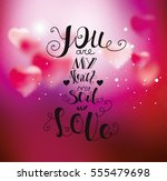 background with hearts for... | Shutterstock .eps vector #555479698
