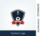 soccer football club logo badge ... | Shutterstock .eps vector #555488650