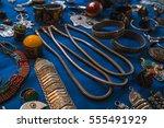 morocco handicraft at the... | Shutterstock . vector #555491929