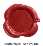 wax seal stamp isolated on... | Shutterstock . vector #555498106