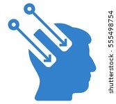 neural interface vector... | Shutterstock .eps vector #555498754