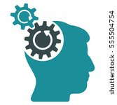 head cogs rotation vector... | Shutterstock .eps vector #555504754