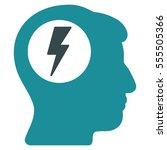 brain electric shock vector...   Shutterstock .eps vector #555505366