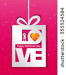 valentines day vector layout | Shutterstock .eps vector #555524584
