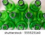 Green Bottle Texture Background