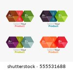 set of infographic templates... | Shutterstock .eps vector #555531688