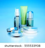 set of cosmetic cream. daily ...   Shutterstock . vector #555533938
