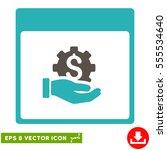 financial development hand... | Shutterstock .eps vector #555534640