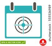 bullseye calendar day icon....   Shutterstock .eps vector #555536989