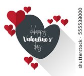 happy valentine's day design... | Shutterstock .eps vector #555538000