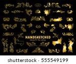 vector set of calligraphic... | Shutterstock .eps vector #555549199