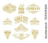 vector set of logotypes  sign ... | Shutterstock .eps vector #555549304