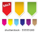 collection of brightly coloured ... | Shutterstock .eps vector #55555183